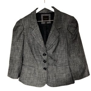 The Limited Collection Black White Blazer Tweed